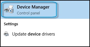 Search results for device manager