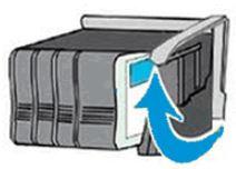 De vergrendeling van de wagen met cartridges optillen