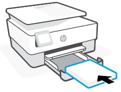 Loading paper in the input tray