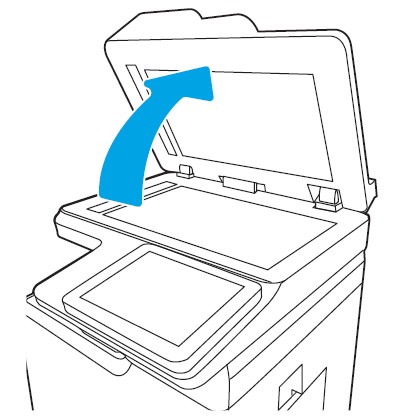 Open the scanner lid