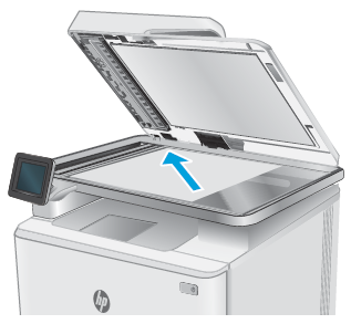 Place the document on the scanner glass