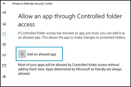 Elija las aplicaciones que pueden acceder a sus archivos y carpetas