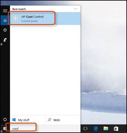 Öffnen von HP Cool Control