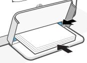 Zusammenschieben der Papierführungen