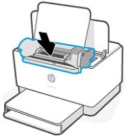 De nieuwe inktcartridge plaatsen