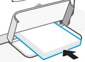 Een stapel papier plaatsen