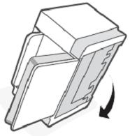 Colocar la impresora en su posición original
