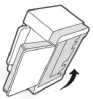 Basculement de l'imprimante sur le côté