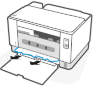 הסרת כל נייר חסום ממתקן ההדפסה הדו-צדדית האחורי