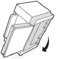 Colocando a impressora de volta à posição normal