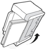 Configurando a impressora sobre seu lado
