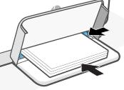 Deslizar as guias na direção do papel