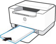 Einlegen eines Stapels Papier