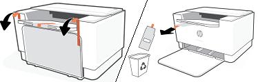 Het verpakkingsmateriaal verwijderen en recyclen