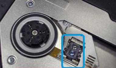 Blu-ray-skivenhet med dubbla laserlinser