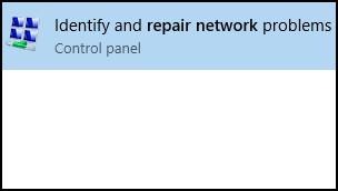 """Suchergebnisse für """"Netzwerk reparieren"""""""