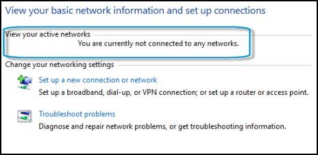 Найдите раздел активных сетей
