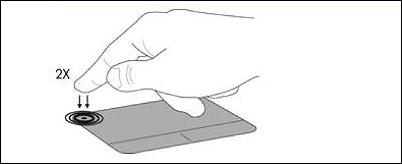 Botão liga/desliga do TouchPad