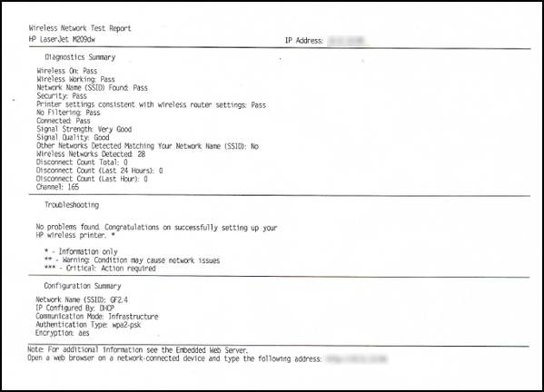 Example of a Wireless Network Test Report