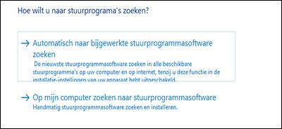 Klik op Automatisch naar bijgewerkte stuurprogramma's zoeken.