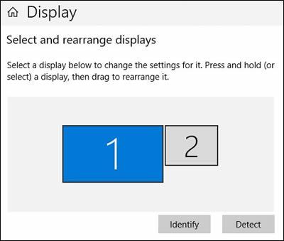 Sélection de la résolution de l'écran, de l'affichage et de l'orientation