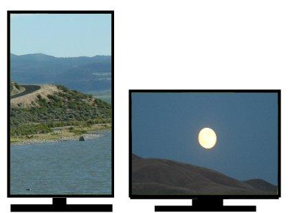 Imagens de tela de fundo diferentes em cada monitor