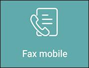 Il riquadro Mobile Fax nell'applicazione HP Smart