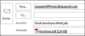 Пример адреса эл. почты задания ePrint