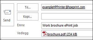 Eksempel på en ePrint-jobb e-post