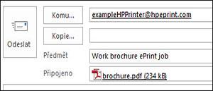 Příklad e-mailu úlohy ePrint