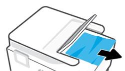 Odstranění uvíznutého papíru zoblasti výstupního zásobníku automatického podavače dokumentů