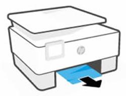 Αφαίρεση τυχόν μπλοκαρισμένου χαρτιού από την περιοχή του δίσκου