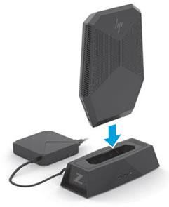 Τοποθέτηση του υπολογιστή στη βάση σύνδεσης