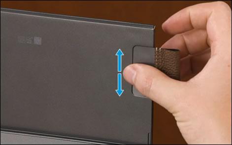 Πίεση για στερέωση του αυτοκόλλητου υλικού
