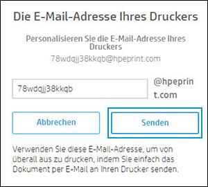"""Auf """"Senden"""" klicken"""