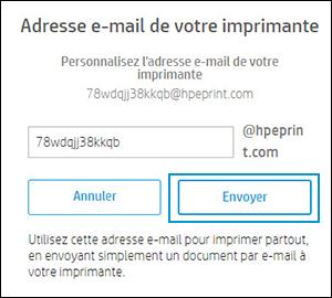 Clic sur Envoyer