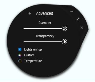 HP Enhanced Lighting, Advanced options