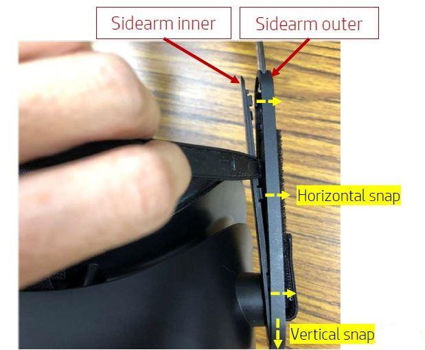 Teilweises Öffnen der Seitenarme