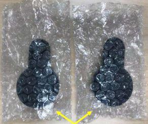 Proteger cada altavoz con envoltorio de burbujas