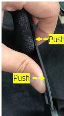Tryck ut knapparna på varje sida