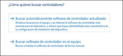 Haga clic en Buscar automáticamente para encontrar el controlador actualizado.