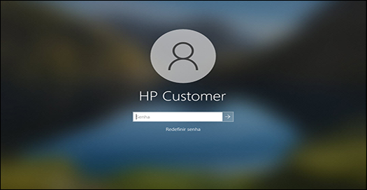 A tela de bloqueio é exibida após uma atualização bem-sucedida do BIOS.