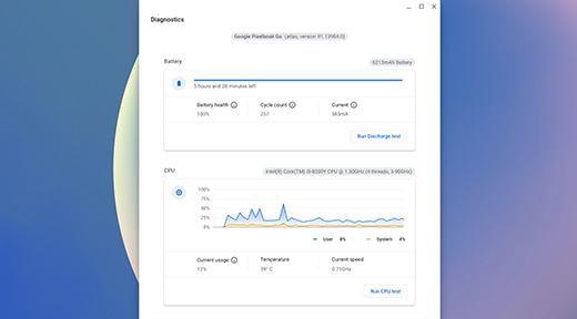 Chrome Diagnostics Run Discharge test