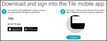 Download and sign in screen