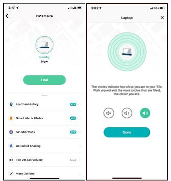 Tile mobile app