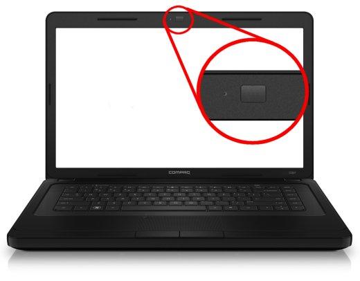 Ubicación de la cámara web sustituida por una tapa