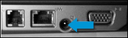 Verbogener oder beschädigter Pin im Stromanschluss des Computers
