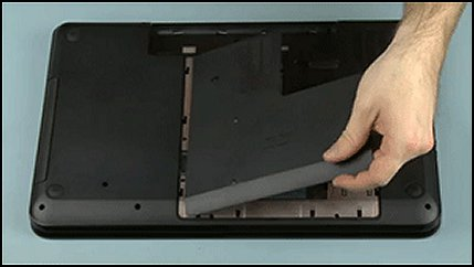 Ta av dekselet på datamaskinen