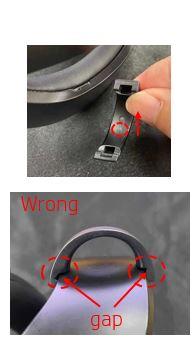 Alineación de los clips del cable