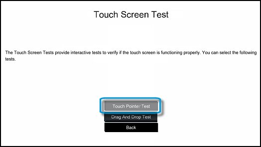 Touch Pointer Test in UEFI
